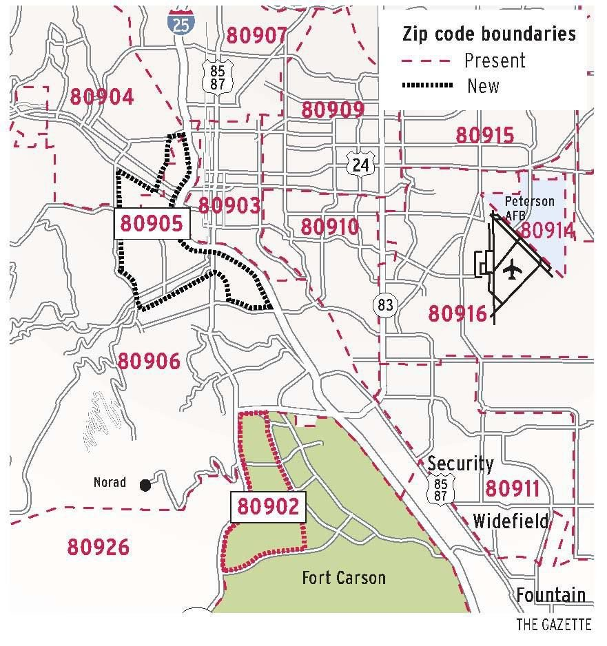 80906 Zip Code Map.Some Zip Codes In Springs Are Changing Colorado Springs News