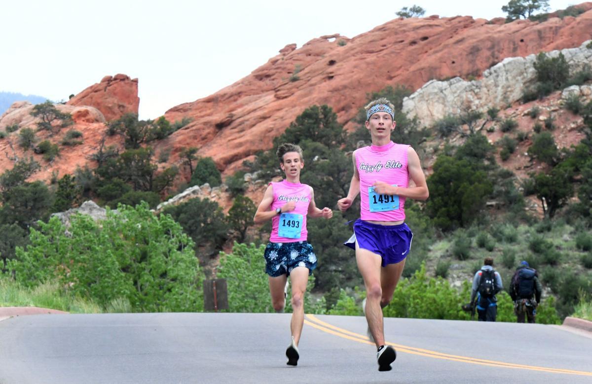 Snapshots from the Garden of the Gods 10 mile, 10K run