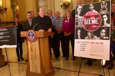 Gov. Jared Polis announces SEE ME campaign at the Colorado Capitol