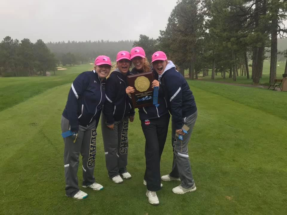 The Palmer Ridge girls' golf team