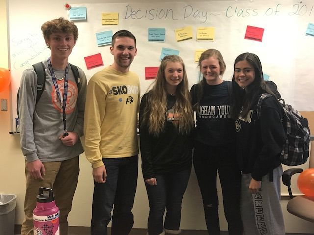 Lewis-Palmer High students sport their college favorites