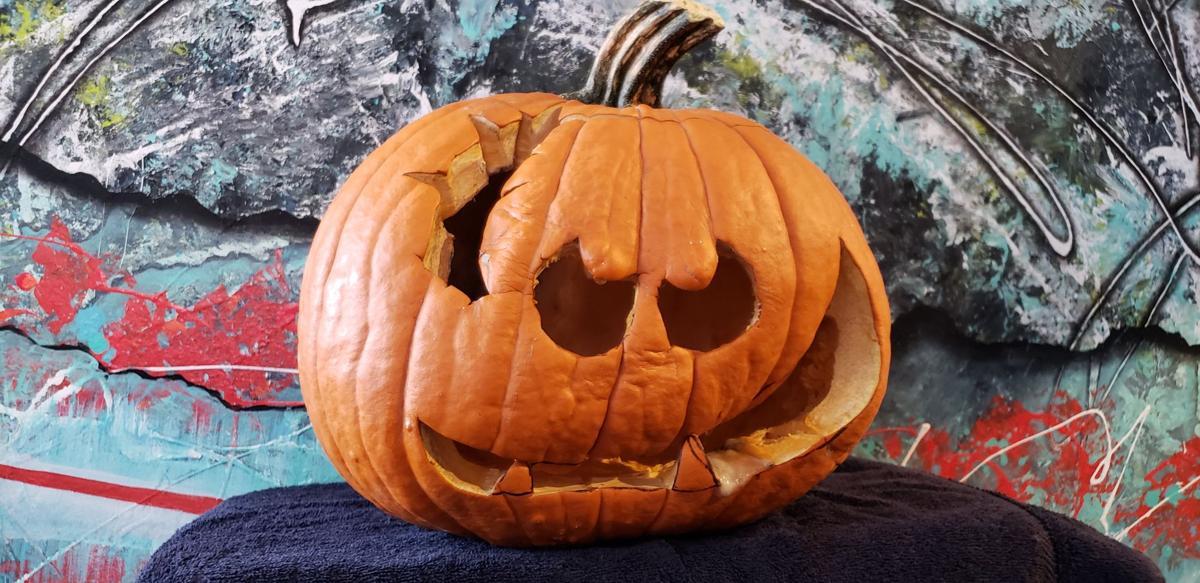 Halloween pumpkin, not in its prime