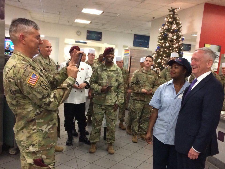 Mattis Visiting War Zones