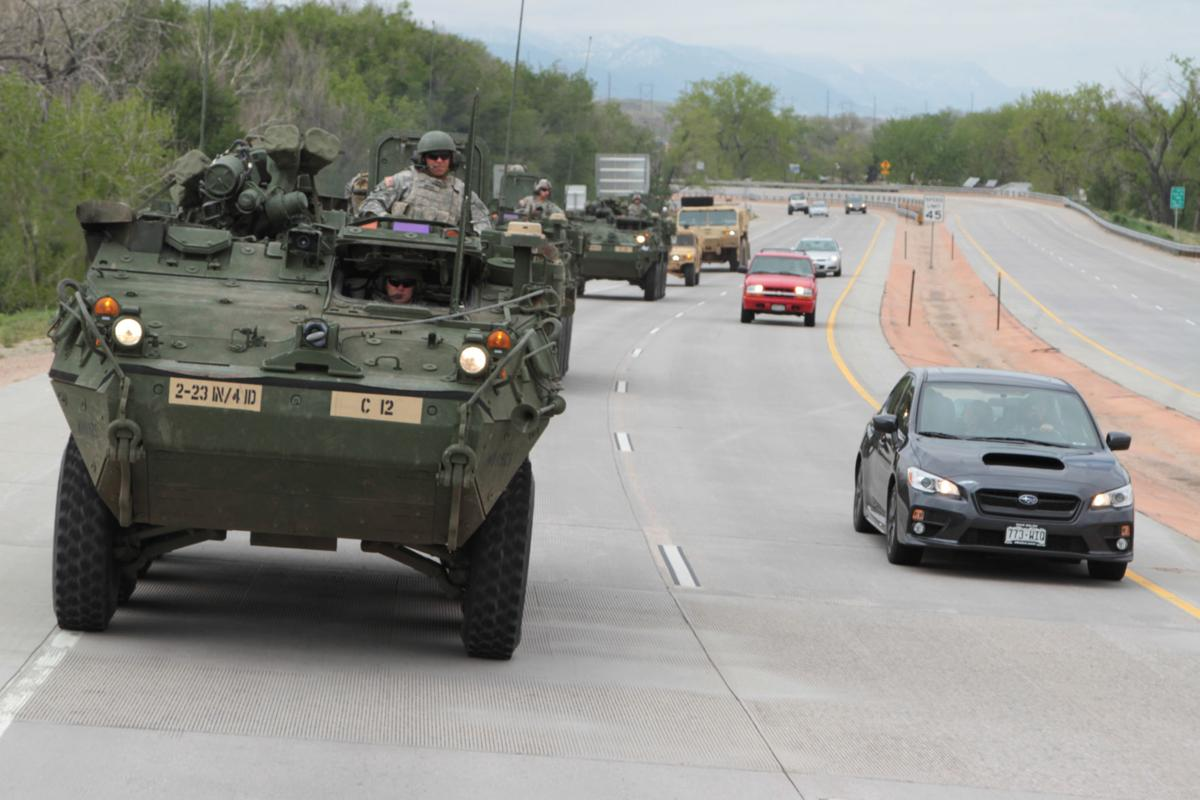 massive army convoy soon rolling south from fort carson