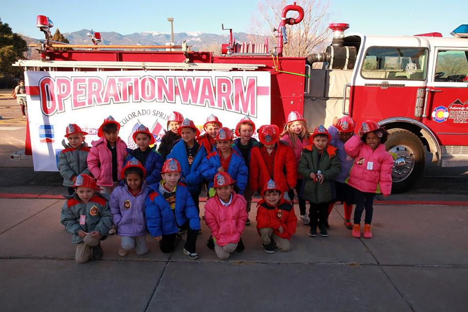 No child left without a coat: area firefighters provide winter coats for District 2 elementary students