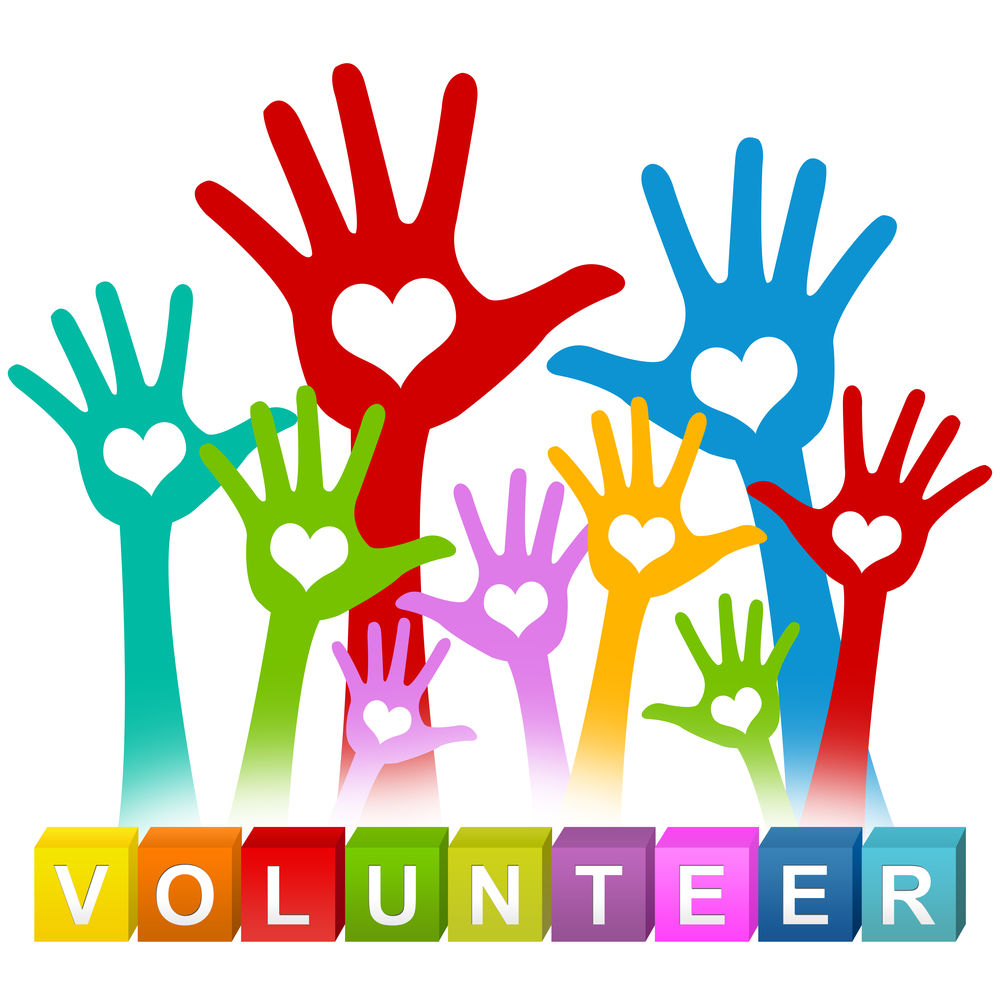 The symbol for volunteering a helping hand