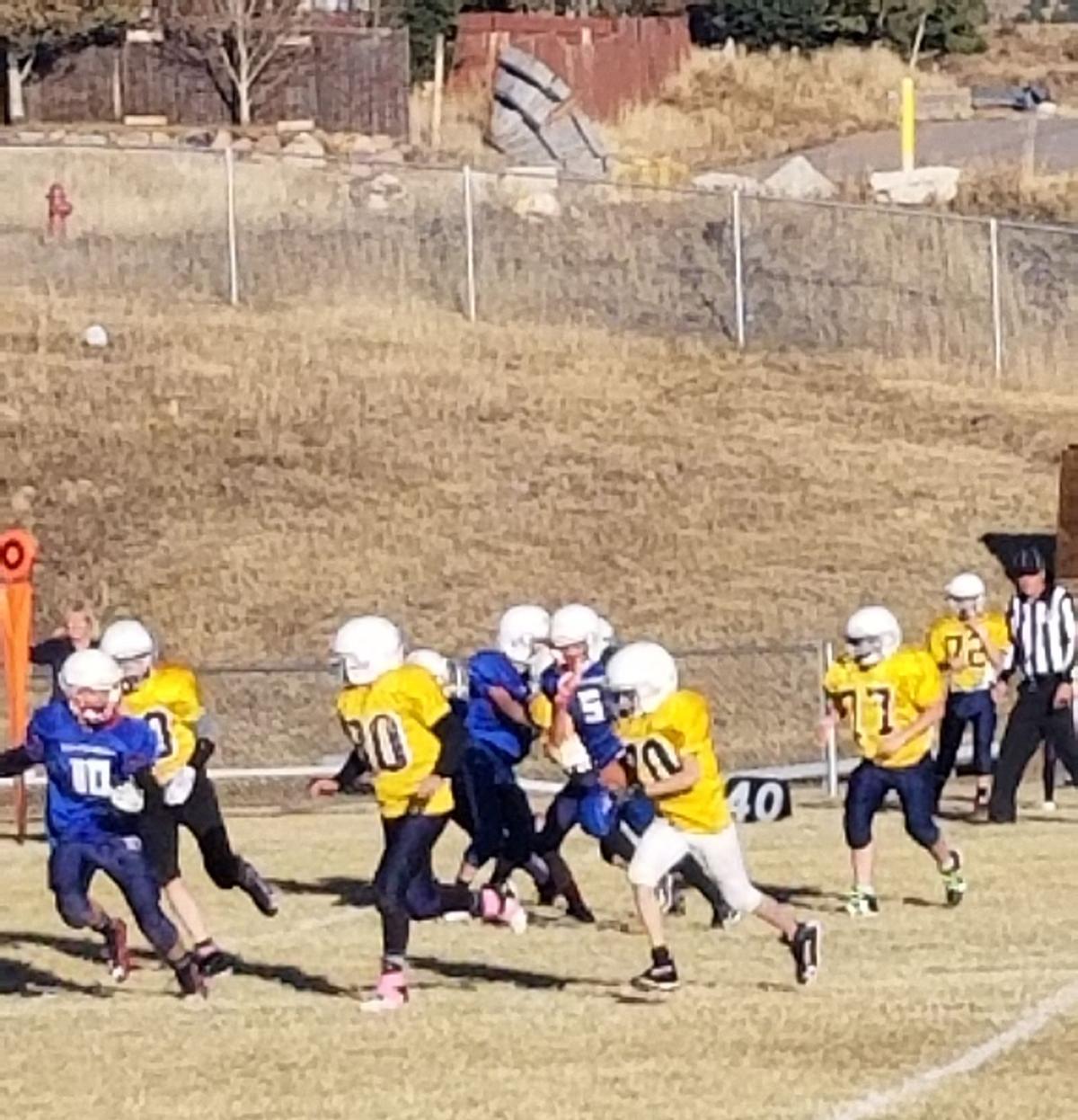 CCV Junior High football team finishes season with win, loss