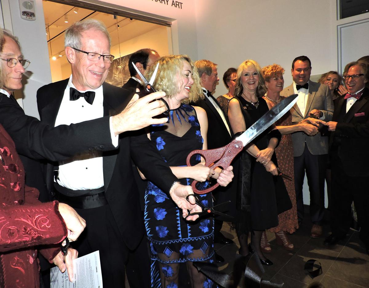 Ent Center for the Arts Opening Gala: Cutting the ribbon of the Marie Walsh Sharpe Gallery of Contemporary Art 020318 Photo by Linda Navarro