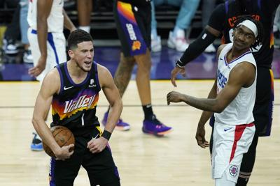 Clippers Suns Basketball Booker (copy)