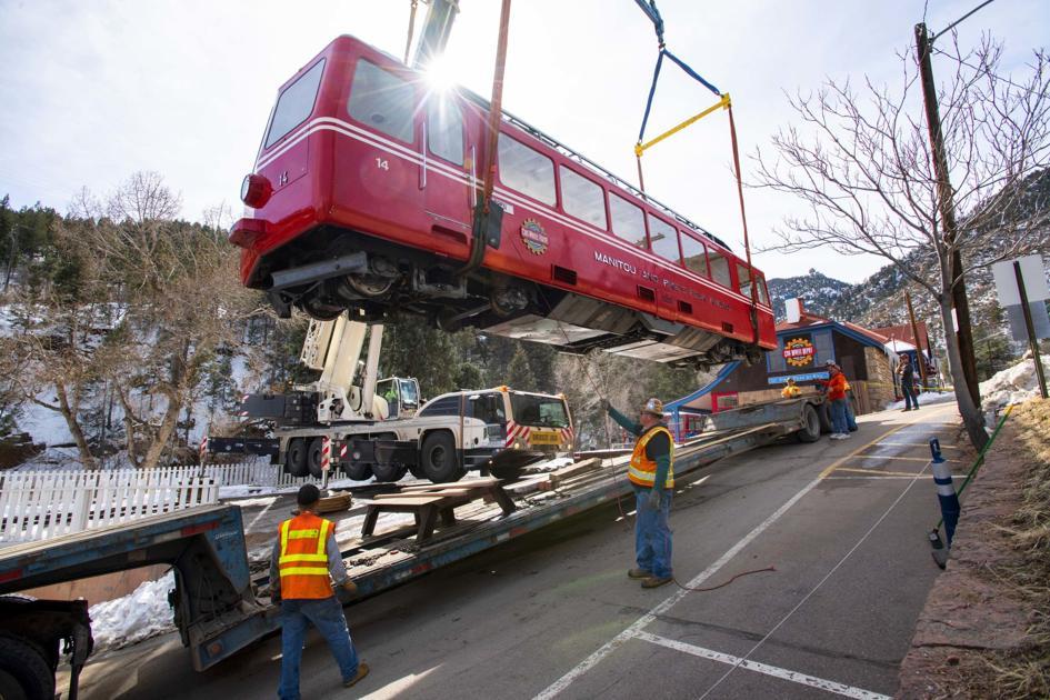 3 Pikes Peak Cog Railway Cars Lifted Off Tracks Into