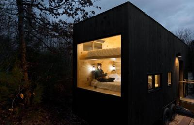 Modern life too much for you? Maybe a tiny box in the woods is the cure