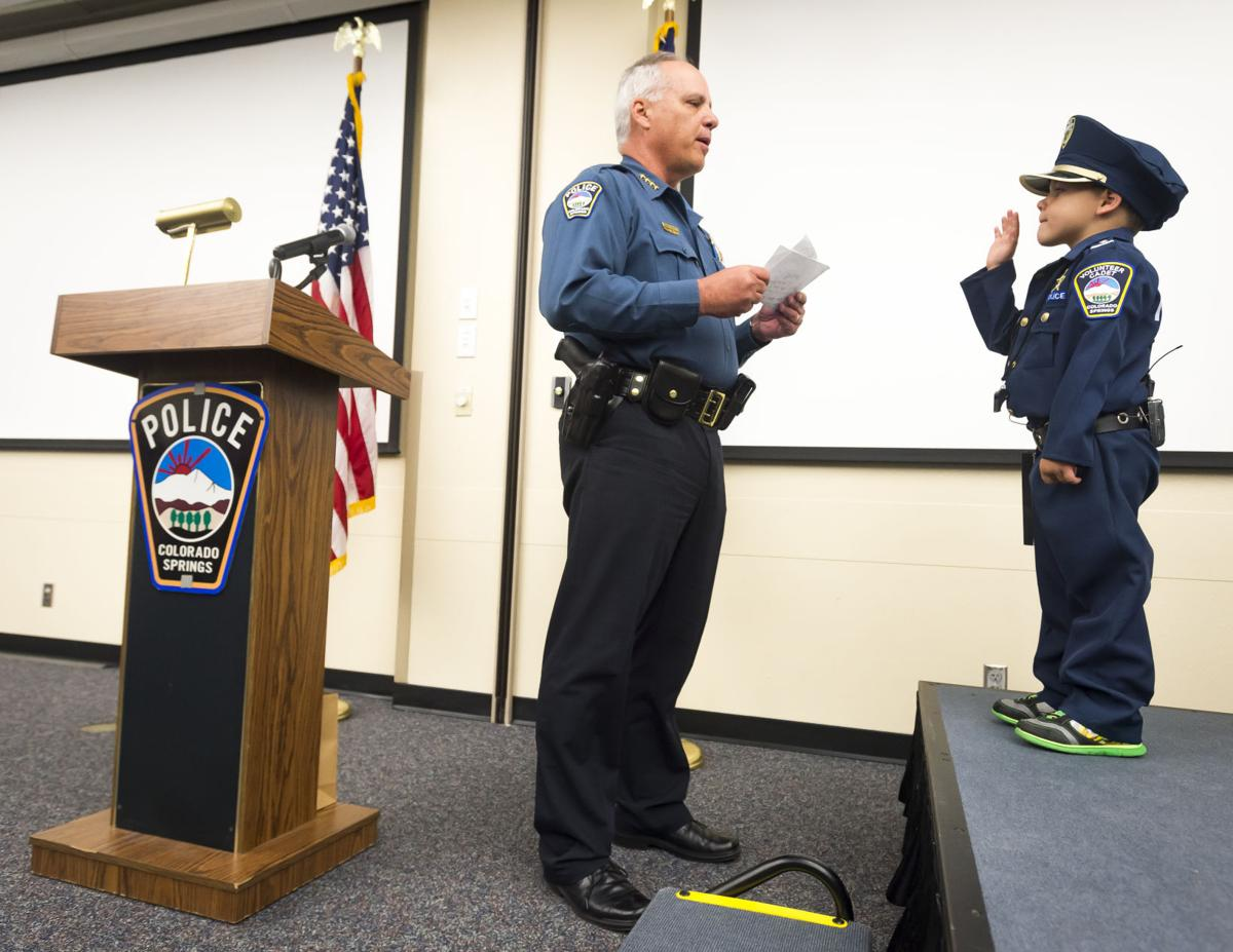 4-year-old fighting cancer becomes honorary Colorado Springs police officer