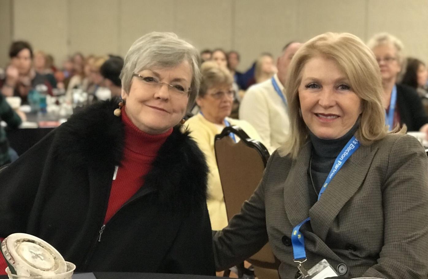 Belinda Knisley and Tina Peters