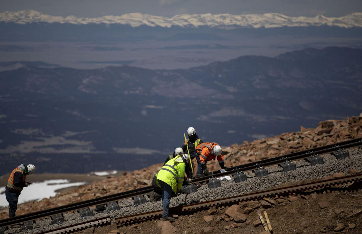 Pikes Peak Cog Railway's on track