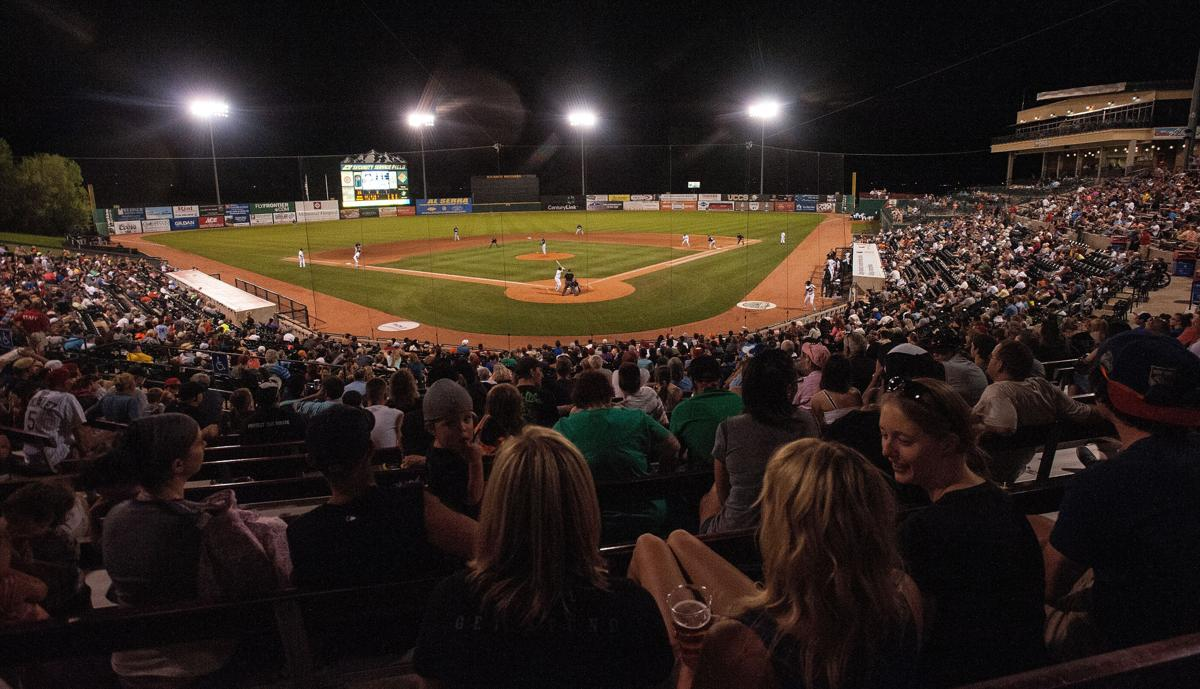 A crowd of 6,520 watches as the Sky Sox defeat the New Orleans Zephyrs 5-4 Tuesday, June 3, 2014, at Security Service Field in Colorado Springs. (The Gazette, Christian Murdock)