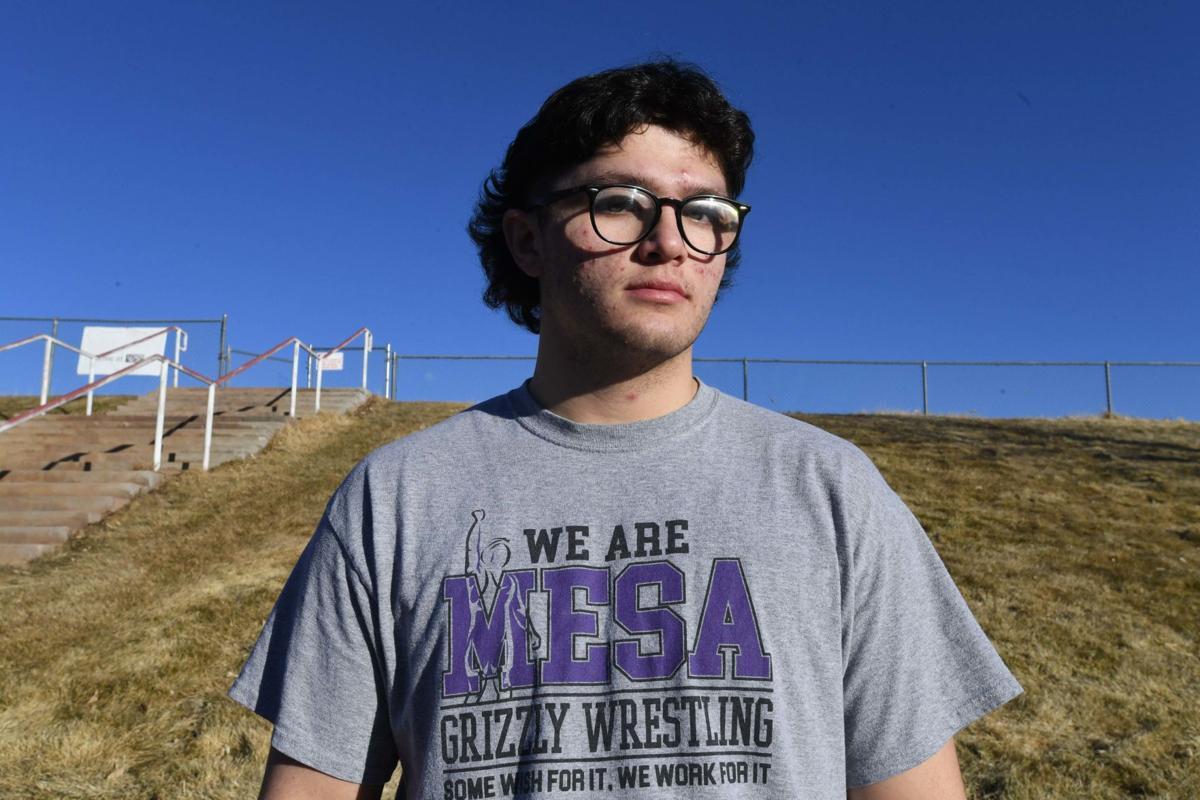 Mesa Ridge wrestler Jared Volcic