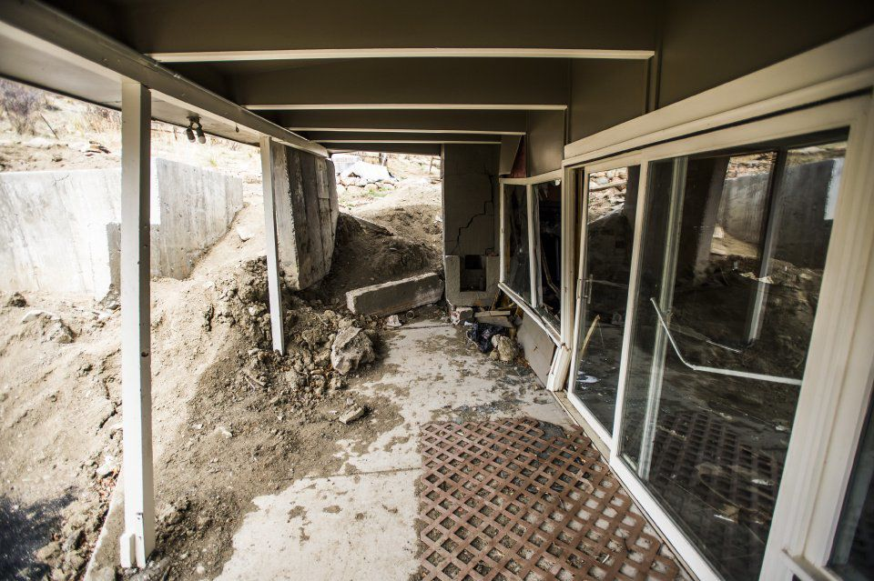 Landslides - The home of William Farkas has been condemned