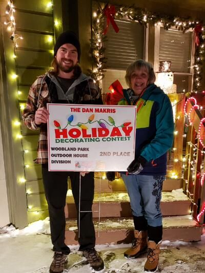 Winners of outdoor holiday house decorating contest in Woodland Park area