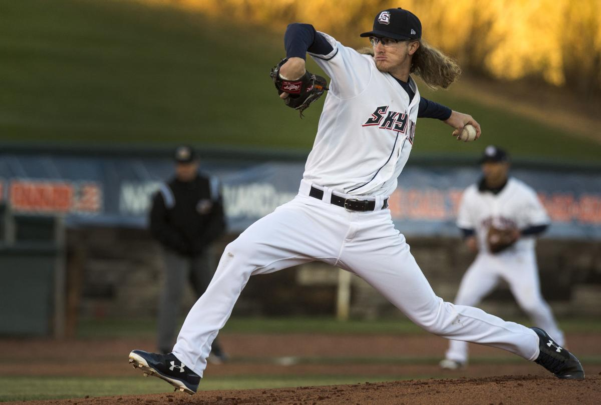 Lefthander Josh Hader delivers a pitch against Omaha during the second inning Thursday, April 6, 2017, at Security Service Field in Colorado Springs, Colo. (The Gazette, Christian Murdock)