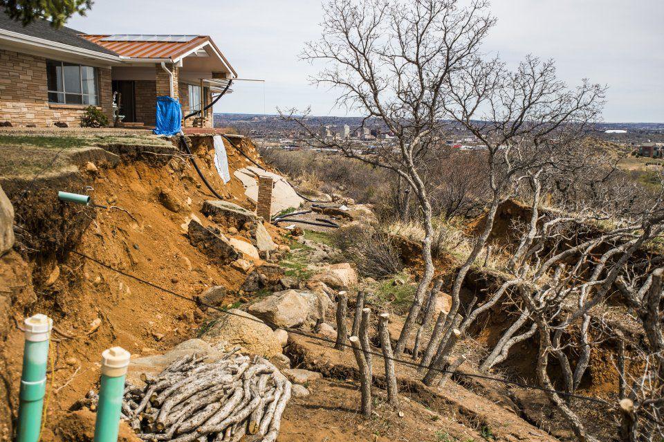 Landslides - Rick Sisco's home in the Skyway neighborhood 2