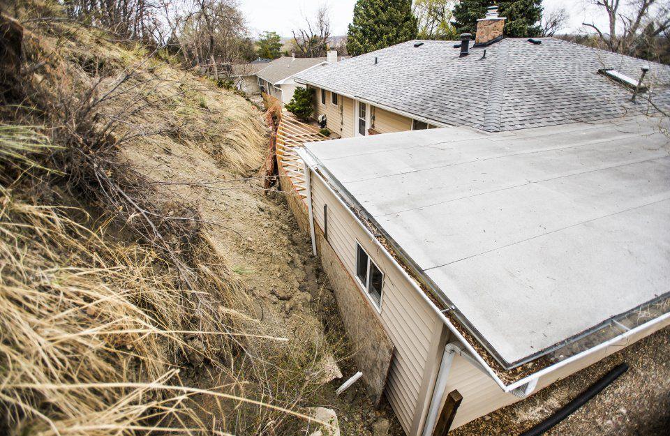 Landslides - A landslide advances on the home of Gail Meires