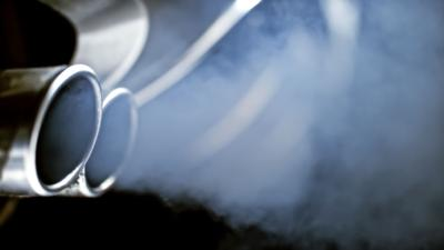 Close-up of car exhaust pipe