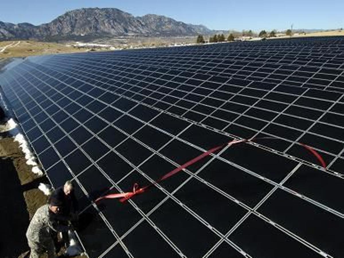 Unfinished Solar Array For Colorado Springs Utilities Sold To National Energy Conglomerate Colorado Springs News Gazette Com