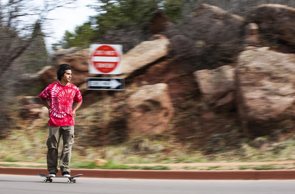 Annie, get your skates on: Skateboarders head to Garden of the Gods for motorless morning