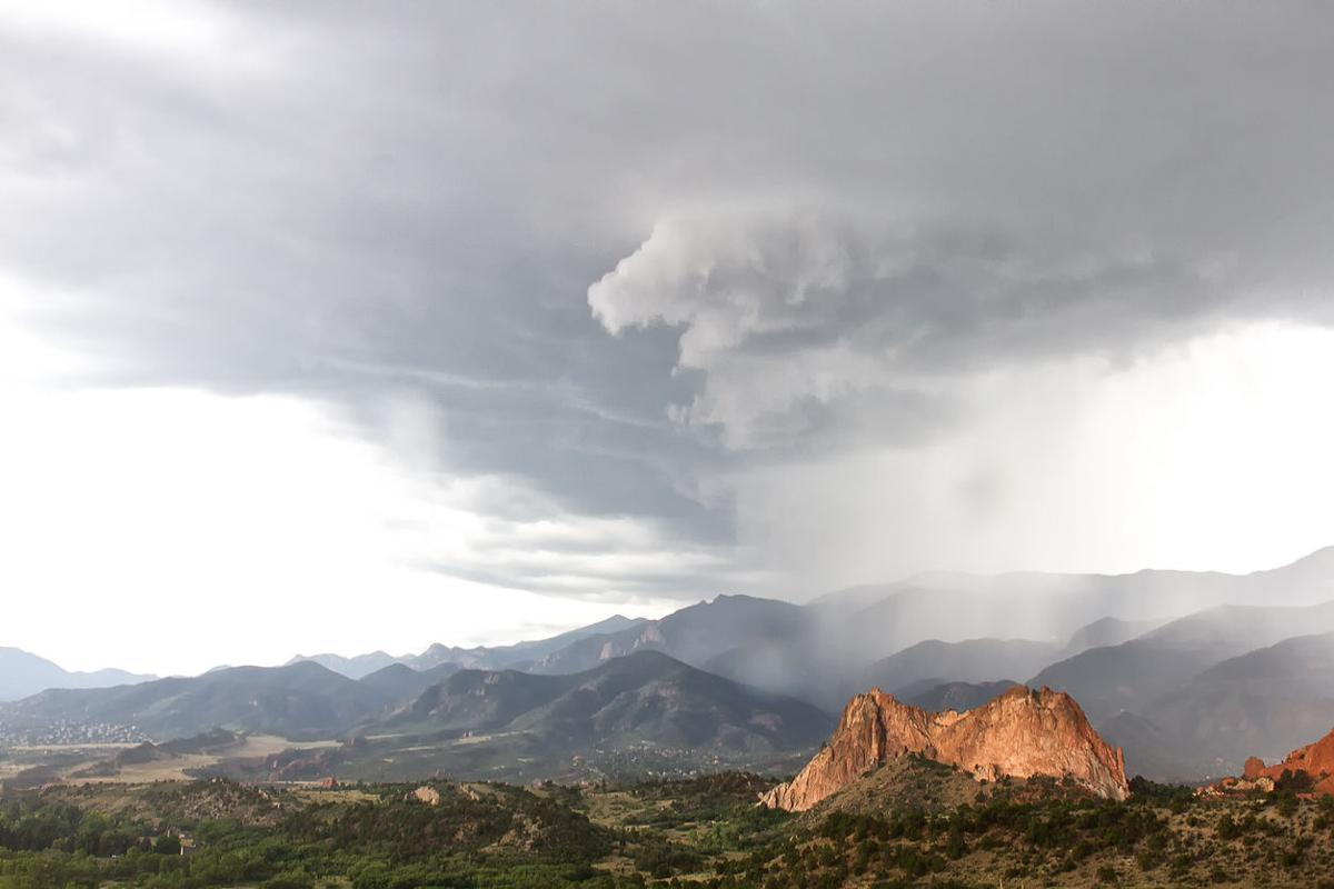 Storm and rain Clouds over Garden of the Gods