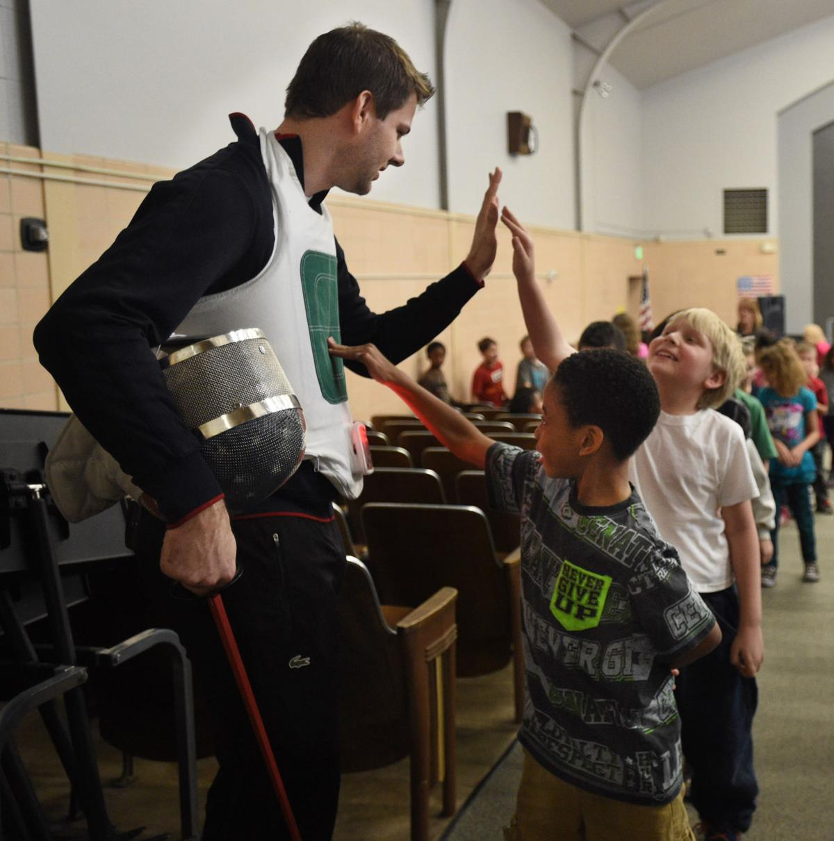 Olympians help spread fencing exposure to area elementary teachers, students