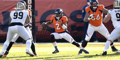 Broncos suffer quarterback shortage, lose to Saints (copy)