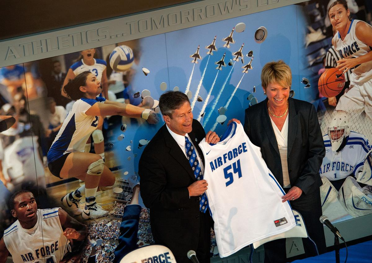 New Air Force women's basketball coach fills out her staff