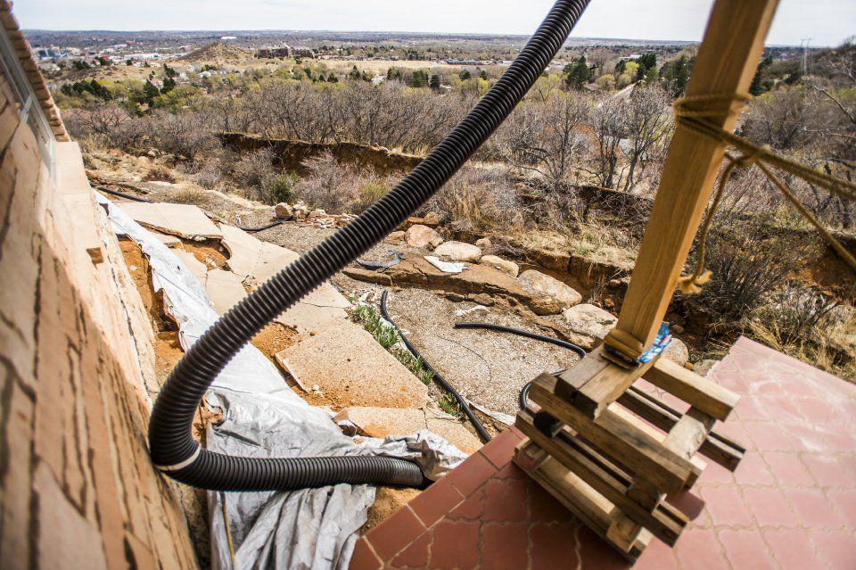 Landslides - Rick Sisco's home in the Skyway neighborhood