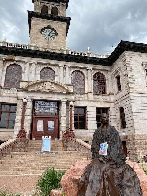 CPSM passport  - Katharine Lee Bates sculpture.jpg