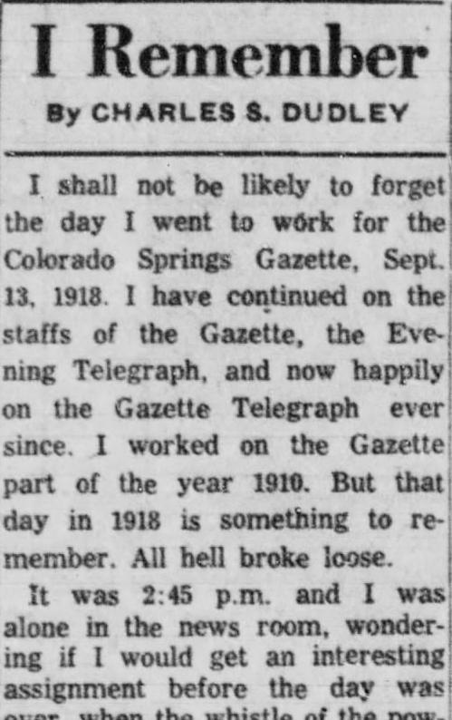gazette-telegraph clipping