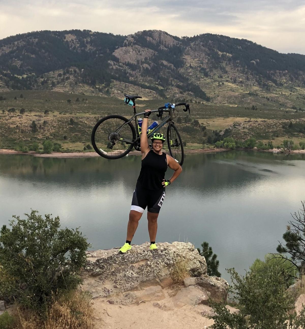 Alisha Zellner, with bike