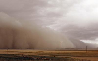 Dust storm on the plains