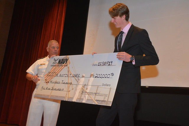 Carrying on a family legacy, LPHS student earns full scholarship from U.S. Navy