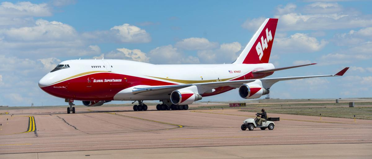 Supertanker moves into its base at Colorado Springs Airport