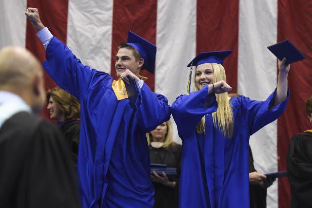 Students at Rampart graduate at a ceremony Wednesday, May 20, 2015 at the Air Force Academy.