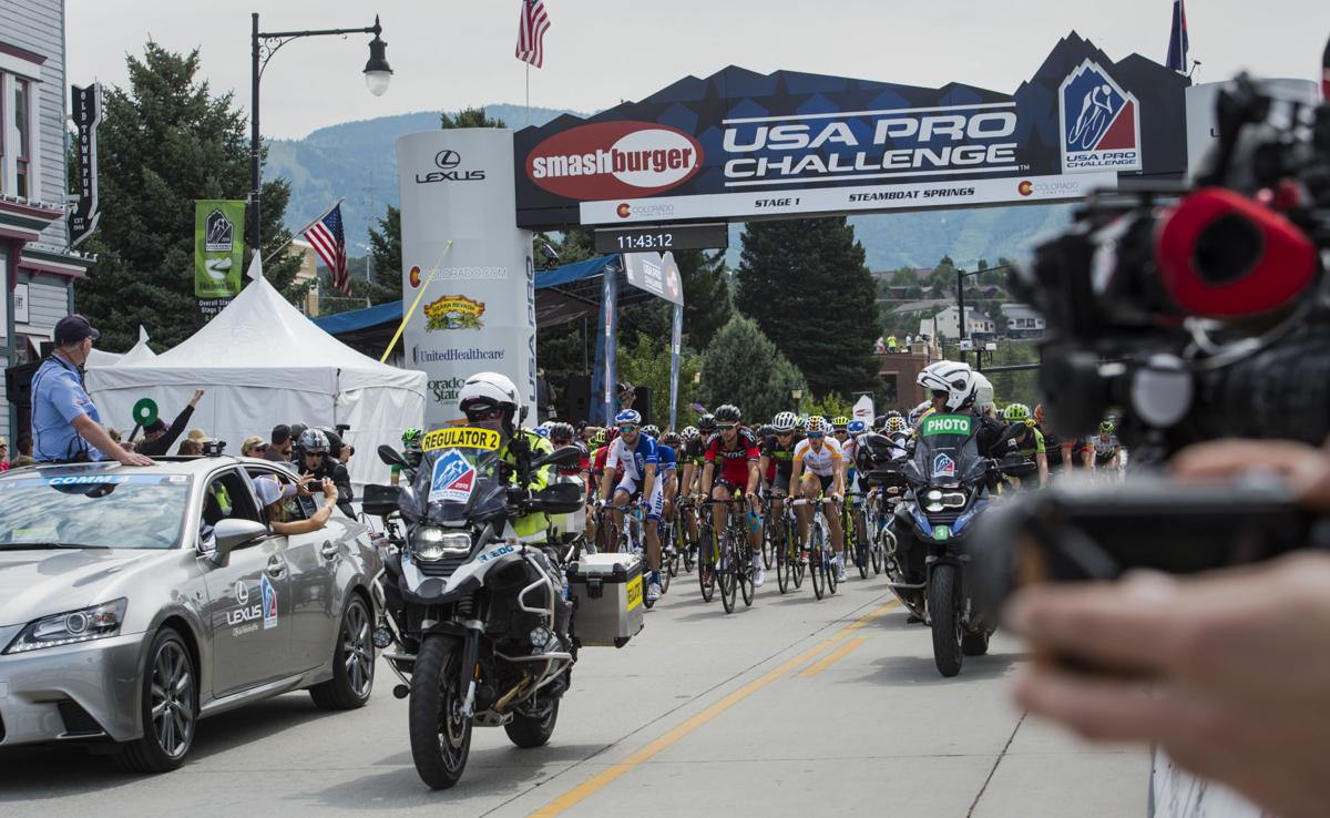 Stage 1 of the 2015 USA Pro Challenge begins Monday, Aug. 17, 2015, in Steamboat Springs, Colo. Stage 1 is a two-lap, 97 miles circuit beginning and ending in Steamboat Springs. (The Gazette, Christian Murdock)