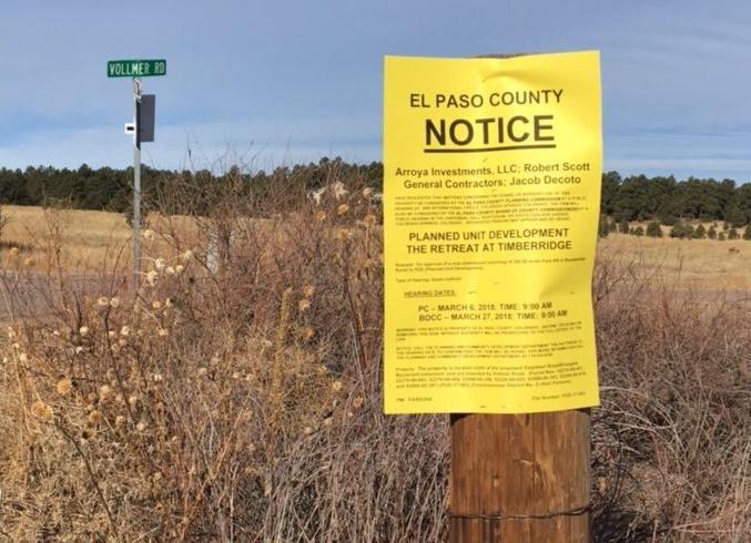 Retreat at Timber Ridge development notice