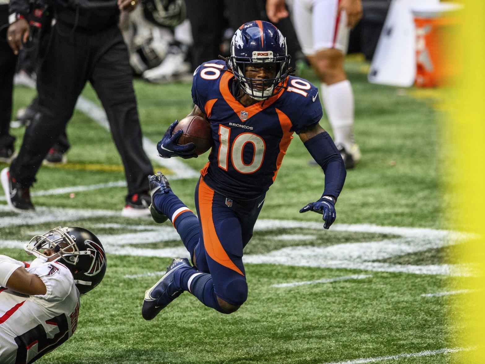 Broncos offense's first-half struggles continue while Jerry Jeudy, K.J.  Hamler show promise | Sports Coverage | gazette.com