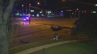 Light pole crash on Sept. 4