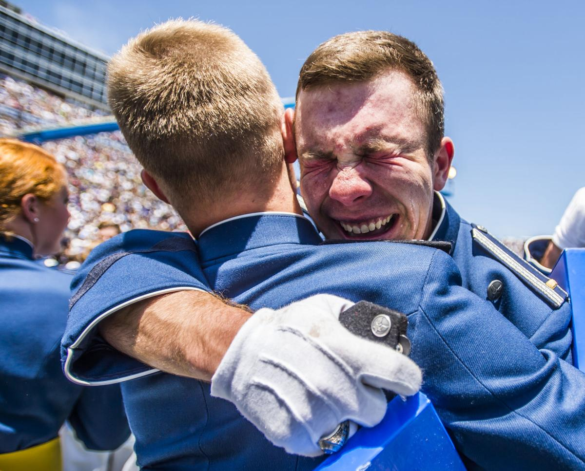 Cadets in the Air Force Academy's class of 2016 arrived amid fire, left with a flourish
