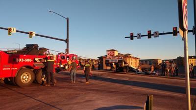Semi crash in Castle Rock
