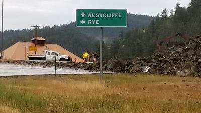 Highway 96 rockslide
