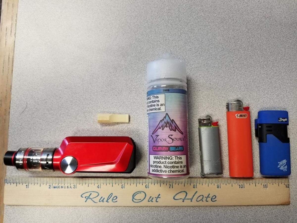 Confiscated vaping devices from Mesa Ridge High students