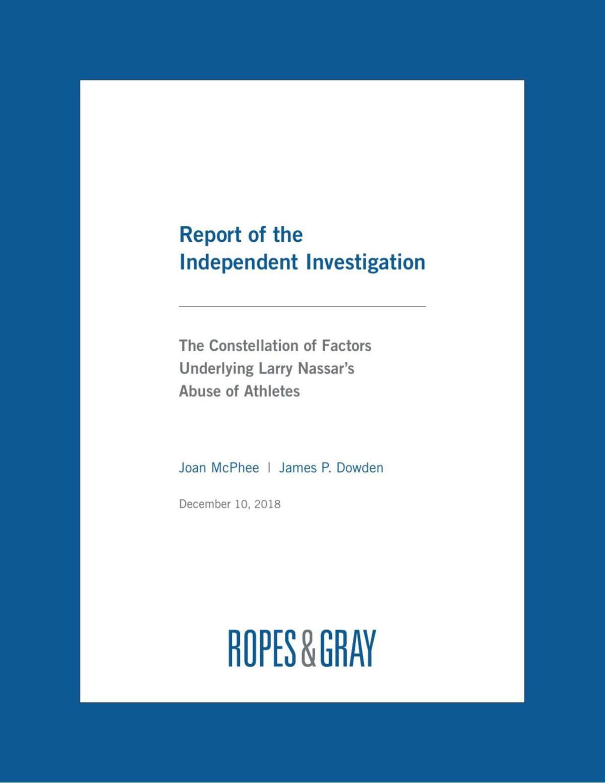 PDF: Full USOC report on Larry Nassar's abuse of athletes