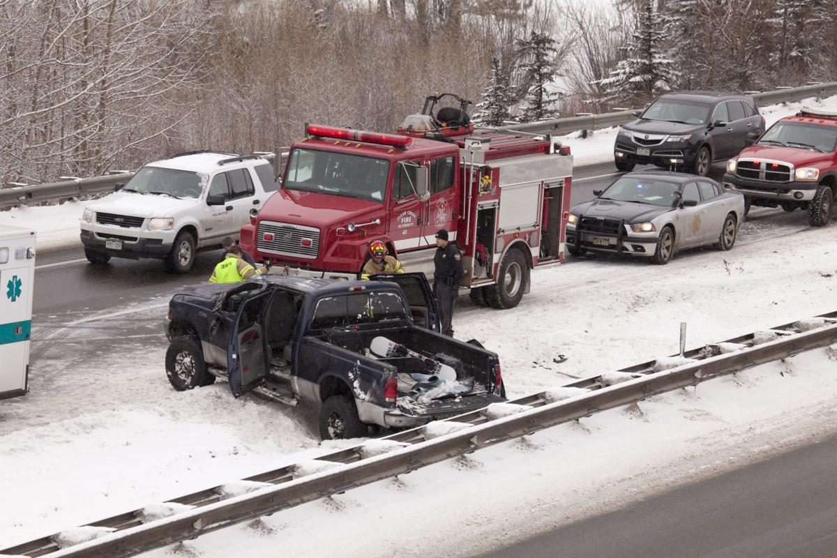 Winter accident on Interstate 70 Colorado mountains
